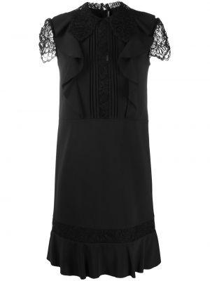 Кружевное черное платье с воротником Ermanno Scervino