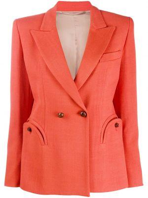 Приталенная оранжевая классическая куртка двубортная Blazé Milano