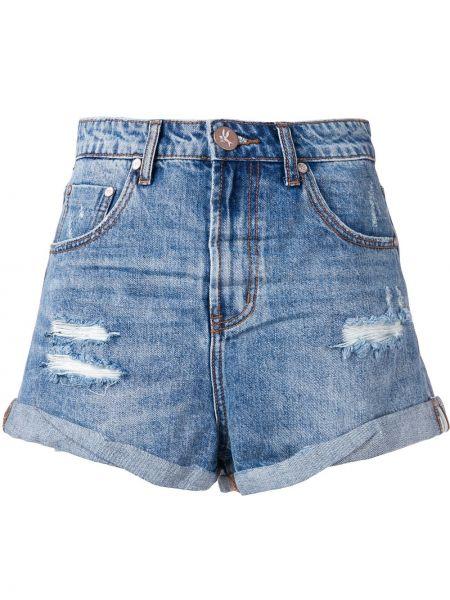 Джинсовые шорты синий с карманами One Teaspoon