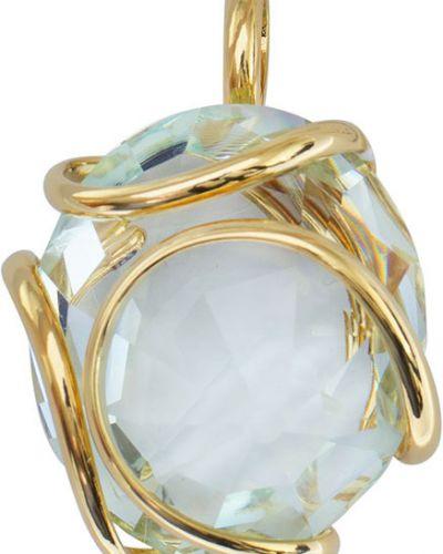 Золотая подвеска с камнями позолоченная Andrea Marazzini