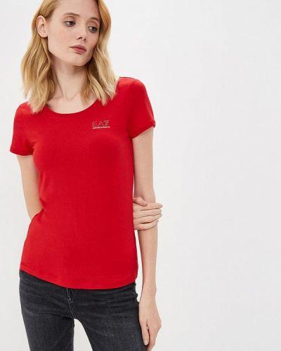 Красная футболка Ea7