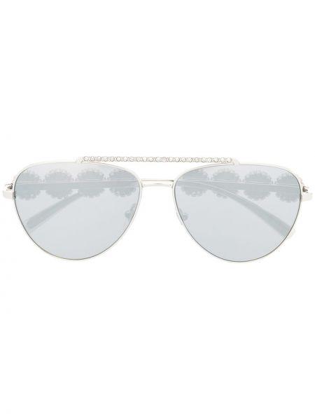 Солнцезащитные очки металлические хаки Versace Eyewear