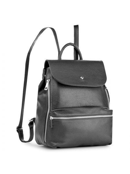 Skórzany plecak czarny na ramieniu Creole