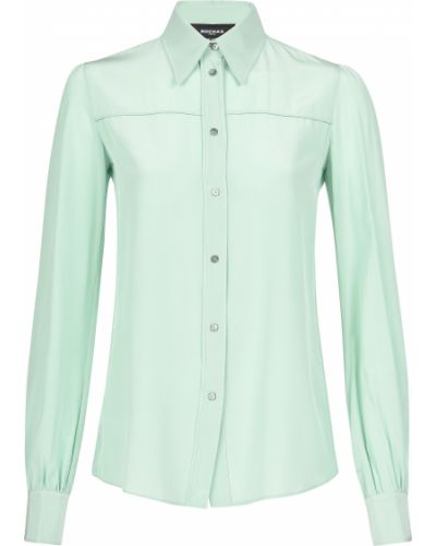 Бирюзовая рубашка Rochas