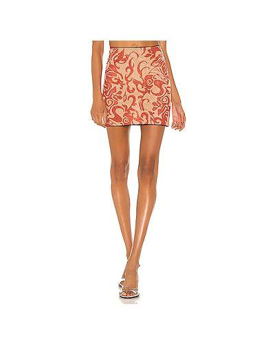 Красная текстильная юбка с сеткой с подкладкой Miaou