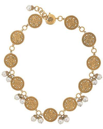 Желтое ожерелье с жемчугом Sonia Rykiel Pre-owned