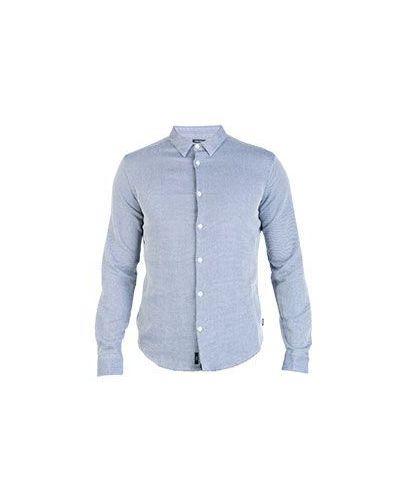 Синяя рубашка хлопковая Armani Jeans
