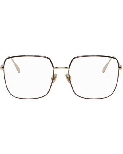 Очки для зрения квадратные золотые металлические Dior