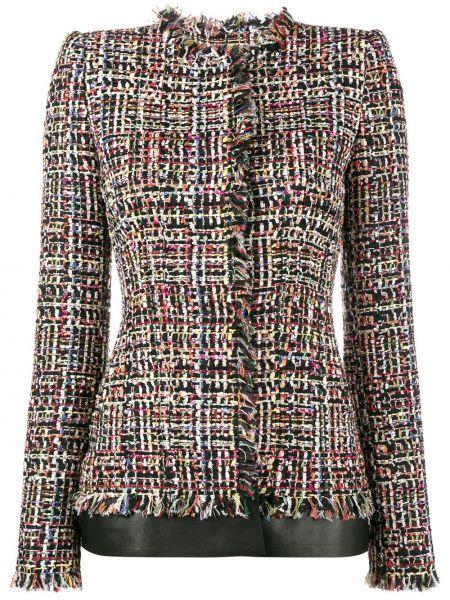Приталенный пиджак твидовый с декоративной отделкой Alexander Mcqueen