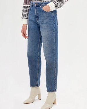 Прямые джинсы синие салатовый Lime