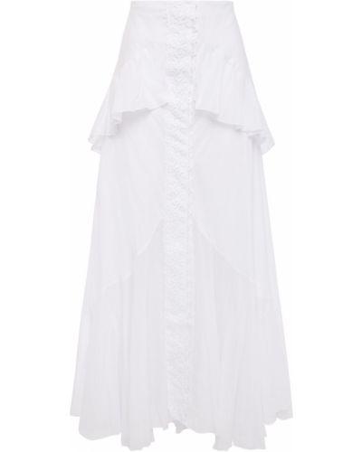 Хлопковая юбка макси - белая Charo Ruiz Ibiza