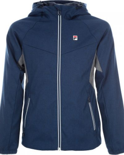 Куртка с капюшоном спортивная прямая Fila