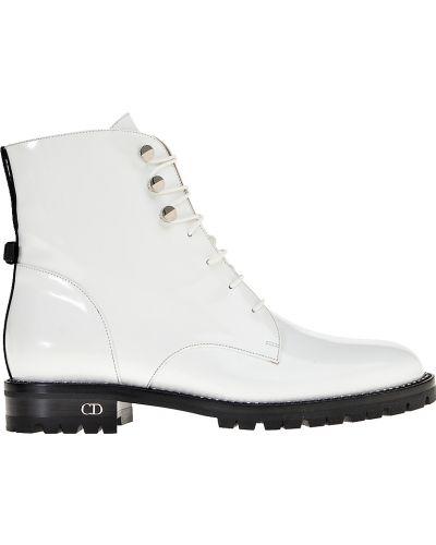 Кожаные ботинки - белые Christian Dior