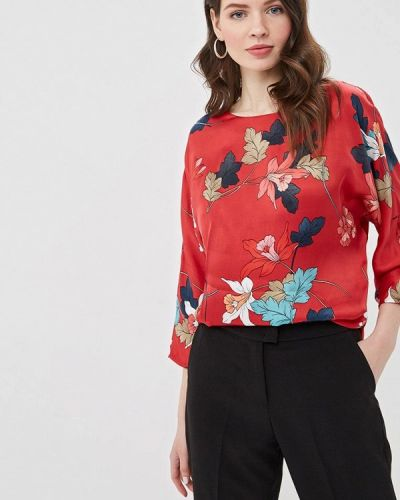 Блузка с длинным рукавом турецкий красная Lusio