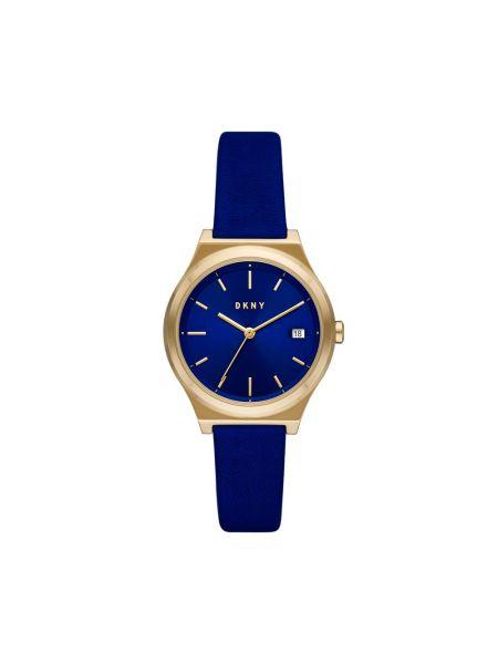 Złoty zegarek granatowy Dkny