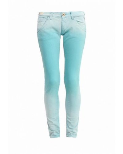 Бирюзовые зауженные брюки Replay