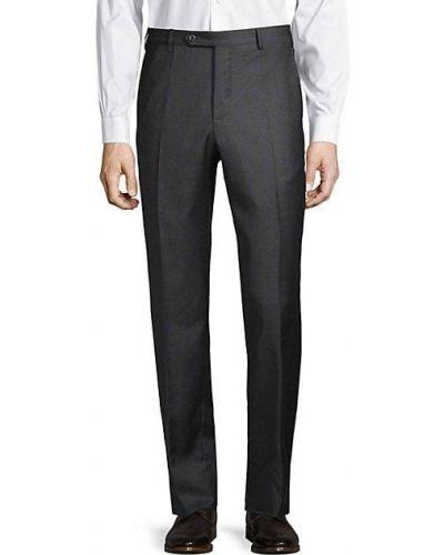 Шерстяные классические брюки с карманами на пуговицах Zanella