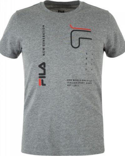 Спортивная футболка хлопковая прямая Fila