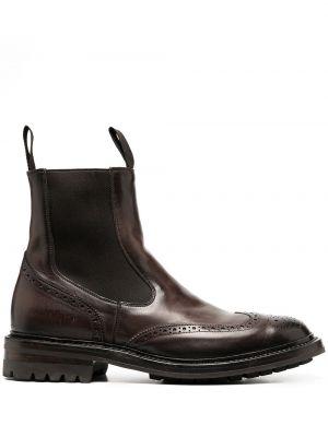 Коричневые кожаные ботинки челси эластичные Officine Creative
