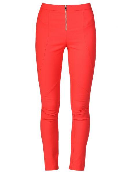 Красные брюки хлопковые Patrizia Pepe
