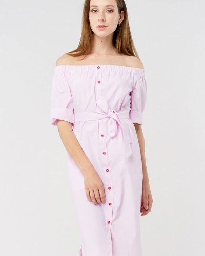 Розовое платье миди Mascot