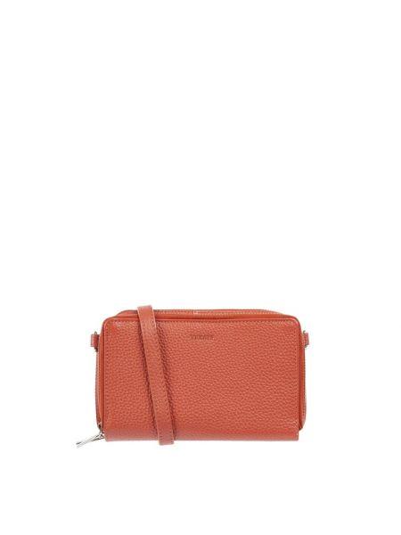 Pomarańczowa torba na ramię skórzana Treats