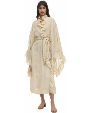 Платье макси с завышенной талией с поясом Lisa Marie Fernandez