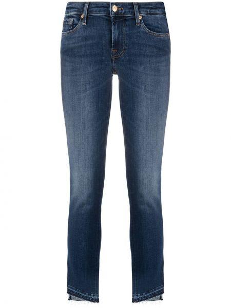 Укороченные зауженные джинсы - синие 7 For All Mankind