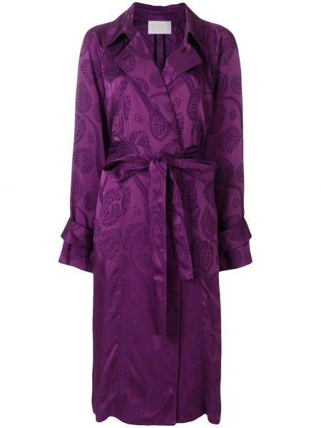 Розовое пальто с лацканами из вискозы Peter Pilotto