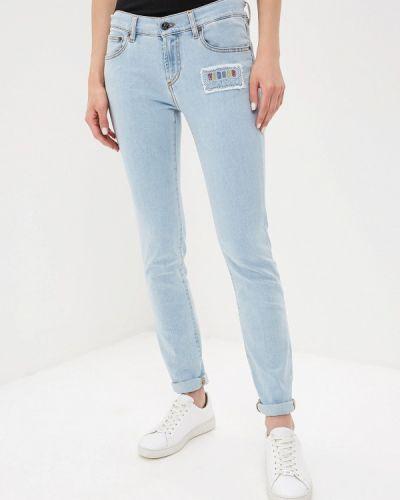 Зауженные джинсы - голубые Versus Versace
