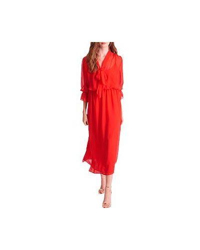 Коктейльное платье красный Luisa Spagnoli