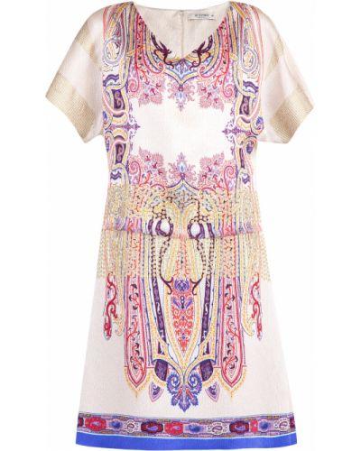 Платье с бахромой с V-образным вырезом Etro