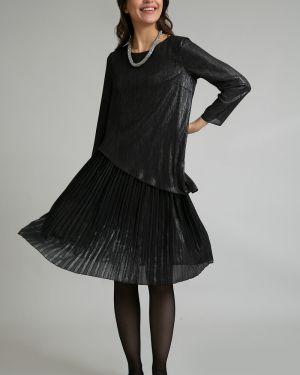 Вечернее платье миди - черное Emka