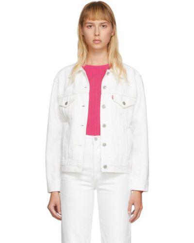 Джинсовая куртка длинная серебряная Levi's®