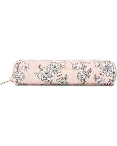 Кожаные футляр для очков - розовые Furla