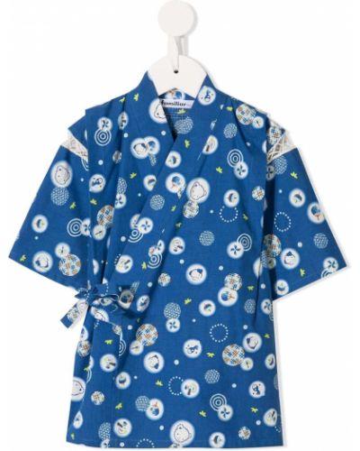 Синее хлопковое кимоно Familiar