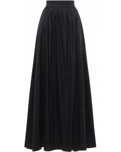 Юбка макси длинная - черная Elie Saab