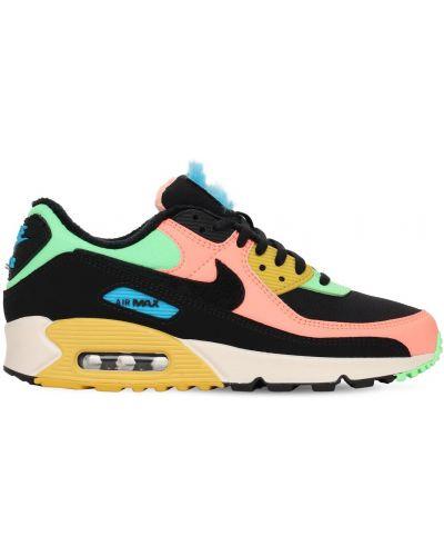Skórzany ażurowy czarny sneakersy na sznurowadłach Nike