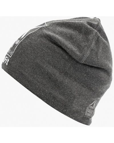Серая шапка осенняя Reebok