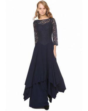 Вечернее платье осеннее синее Marichuell