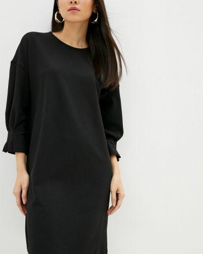Прямое черное платье Sela