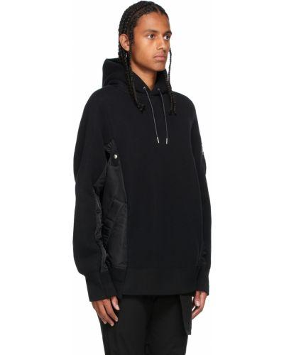Czarna bluza z długimi rękawami Sacai