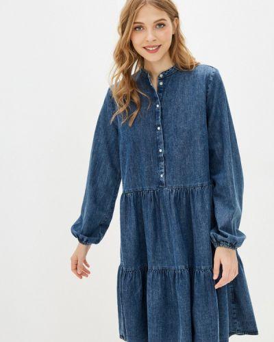 Синее джинсовое платье B.young
