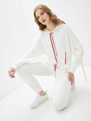Костюмный белый спортивный костюм D'she