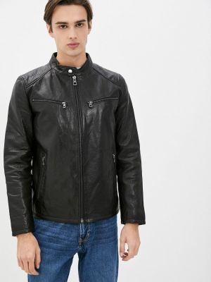 Кожаная куртка - черная Al Franco