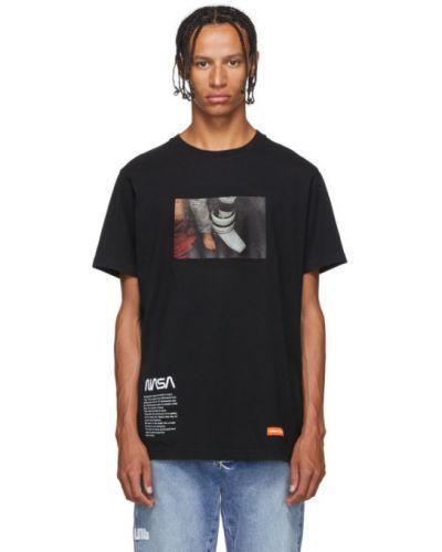 Bawełna bawełna z rękawami czarny koszula Heron Preston