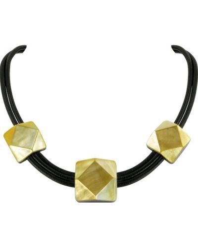 Ожерелье черное желтый Nature Bijoux