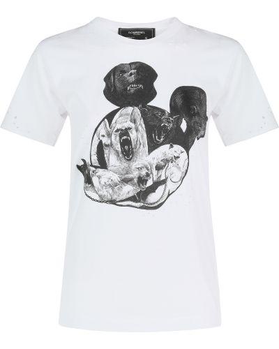 Хлопковая футболка - белая Domrebel