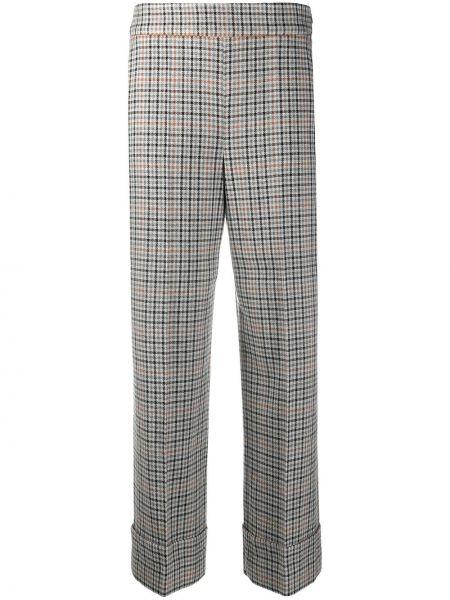 С завышенной талией серые брюки с карманами Incotex