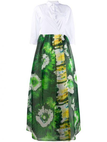 Классическое плиссированное платье на пуговицах с воротником Sara Roka